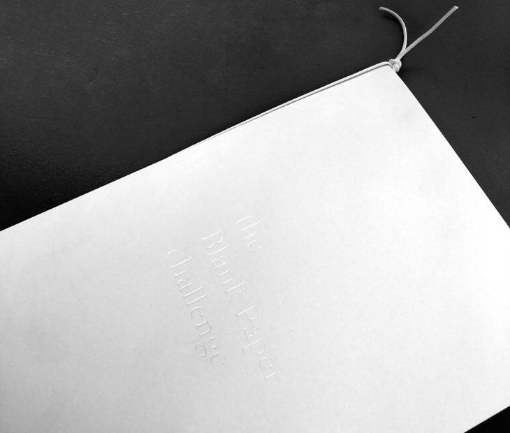 Blank Paper Notebook, una libreta capaz de contener el infinito