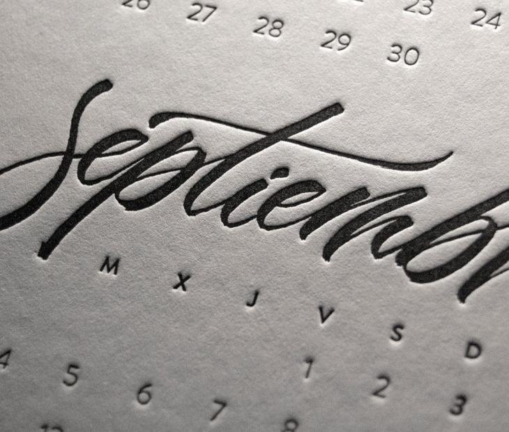 Un calendario (casi) único