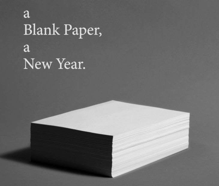 A Blank Paper, a New Year