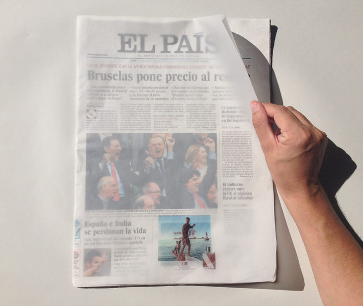 <!--:es-->Una ingeniosa portada para 'El País' con Pergamenate Golden Star K de Fedrigoni <!--:-->