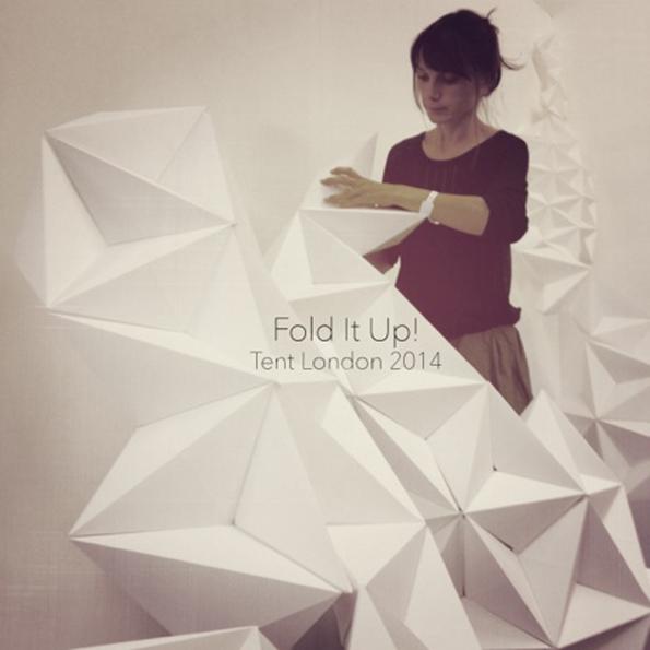 """""""Fold It Up!"""" estructuras orgánicas y flexibles que crecen en la exposición de Londres"""